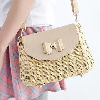 BAIMOMO - Woven Mini Shoulder Bag