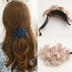 DEBE - Flower Accent Hair Claw