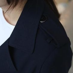 WHITE FOX - Flap-Front Trench Coat