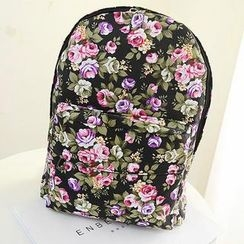 Miss Sweety - Printed Canvas Backpack