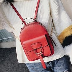 Albatross - Faux Leather Mini Backpack