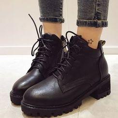 Crystella - Platform Short Boots