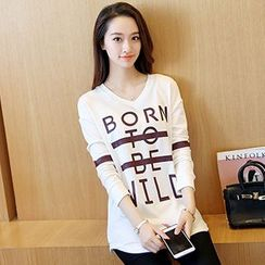 Swish - Lettering Long Sleeve T-Shirt
