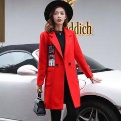 Alisha - Appliqué Double-Breasted Coat