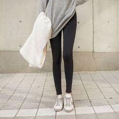 Seoul Fashion - Fleece-Lined Leggings