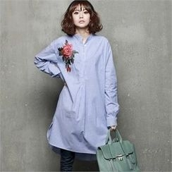 HALUMAYBE - Flower Print Long Shirt