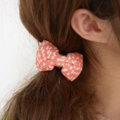 59 Seconds - Dotted Bow-Accent Barrette