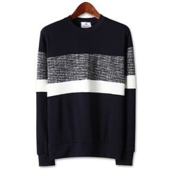 Seoul Homme - Patterned-Panel Pullover