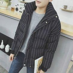 ZZP HOMME - Striped Padded Jacket