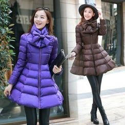 KILIN - A-Line Padded Coat with Scarf