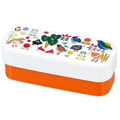 Hakoya - Hakoya Slim Compact Lunch Box Birds Orange
