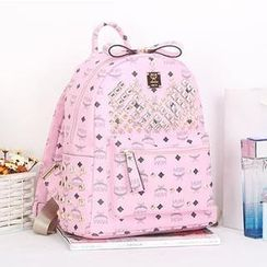 Rabbit Bag - Patterned Studded Backpack