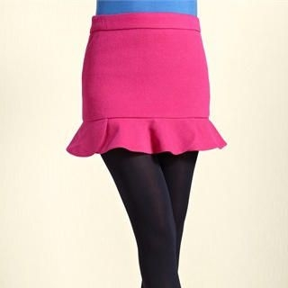 Moonbasa - Ruffled Pencil Skirt