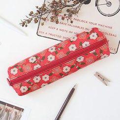 BABOSARANG - Floral Print Flat Pencil Case