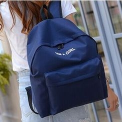 Crystal - Letter Canvas Backpack