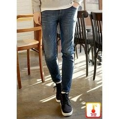 JOGUNSHOP - Washed Straight-Cut Jeans