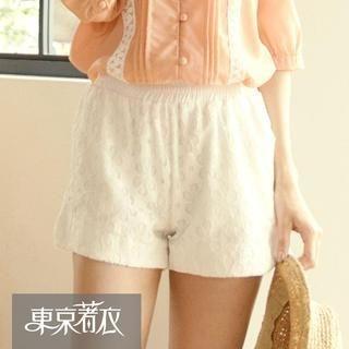Tokyo Fashion - Elastic-Waist Lace Shorts