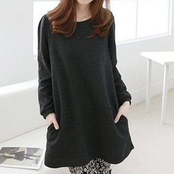 Fancy Show - Long-Sleeve Bow-Accent Tunic