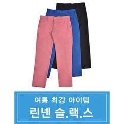 STYLEMAN - Flat-Front Stripe Pants