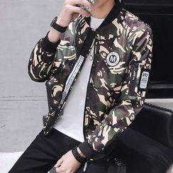 Masowild - Camouflage Baseball Jacket