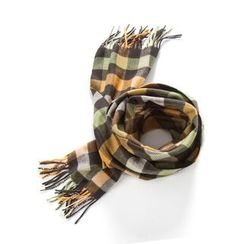 DEARIE - Kids Fringed Gingham Scarf