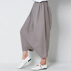FASHION DIVA - Linen Blend Harem Pants