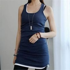 CHICFOX - Plain Long Tank Top