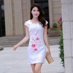 BOHIN - Floral Print Short-Sleeve Dress