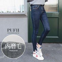 PUFII - Washed Skinny Jeans