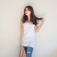 Seoul Fashion - Sleeveless Long Top