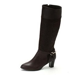 MODELSIS - Genuine Leather Knee High Boots