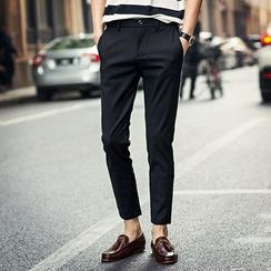 KANGI - Slim-Fit Cropped Pants