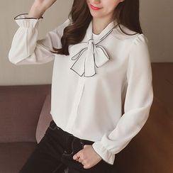 Cocofield - Plain Chiffon Shirt