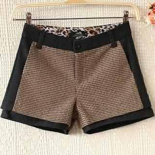 Ringnor - Houndstooth Panel Tweed Shorts