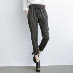 東京著衣 - 抽繩腰錐形褲