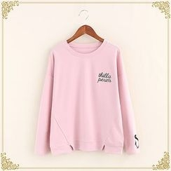 Fairyland - Letter Embroidered Pullover