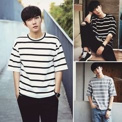 MEING - Short-Sleeve Striped T-Shirt