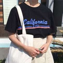 Dute - 'California' Print Crewneck T-Shirt