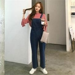 QNIGIRLS - Denim Jumper Pants