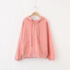 LEMONADE - Plain Hooded Zip Jacket
