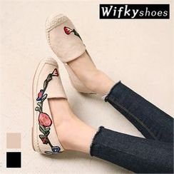 Wifky - Embroidered Espadrille Slip-Ons