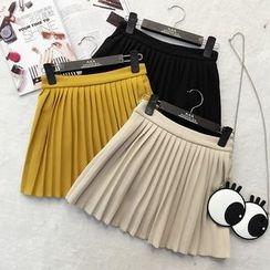 RUI - Pleated A-Line Skirt
