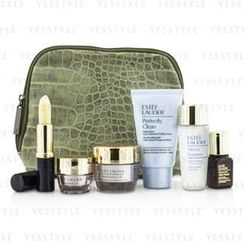 Estee Lauder - Travel Set: Perfectly Clean 30ml + Micro Essence 30ml + Resilience Lift Creme 15ml + Eye Cream 5ml + ANR II 7ml + Lip Conditioner + Bag