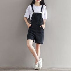 Fancy Show - Denim Suspender Shorts