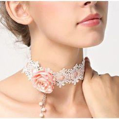 Amina - Flower Accent Bridal Choker