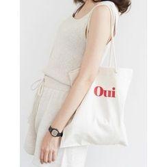 FROMBEGINNING - Lettering Cotton Shopper Bag