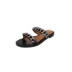DABAGIRL - Chain Double-Strap Slide Sandals