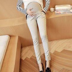 Mamaladies - 孕婦顯瘦純棉修身鉛筆褲