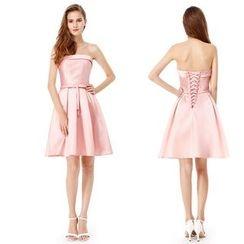 Ever Pretty - Strapless Cross Back Cocktail Dress