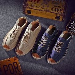 Easy Steps - Lace-Up Canvas Sneakers